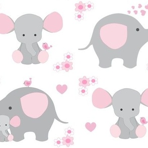 Elephant Nursery Pink Girl