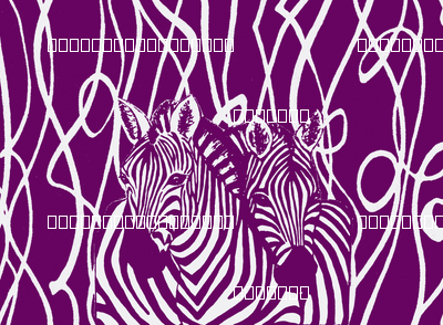 African Zebra design in white and magenta abstract background