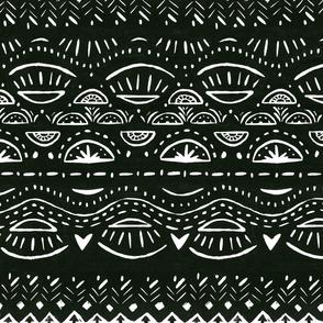 block pattern black and white