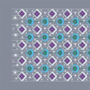Mod Ornaments Tea Towel