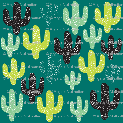 Cactus in Cool Colors