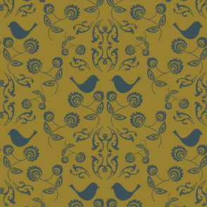 Bird-wallpaper-with-Gold-Chartreuse-Back