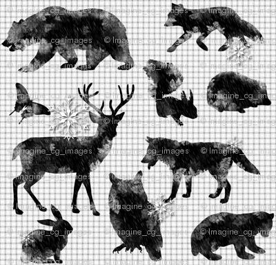 Arctic Woodland Animals