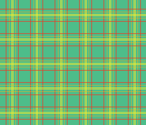 Mint Plaid fabric by aiixapr on Spoonflower - custom fabric
