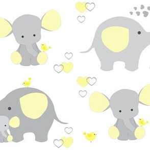Elephant Nursery Yellow Neutral