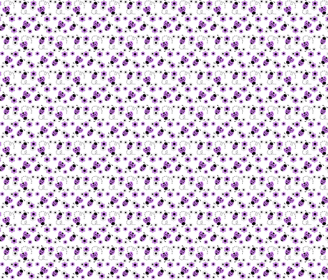Purple Lavender Ladybugs fabric by decamp_studios on Spoonflower - custom fabric