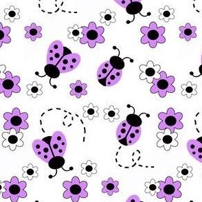 Purple Lavender Ladybugs