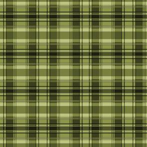 C3 plaid square - olive
