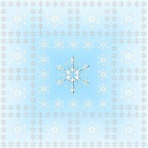 Snowflake Pattern Turquoise