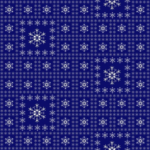 Snowflake Pattern - Dark Blue