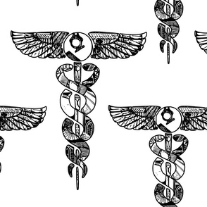 Alchemical White Caduceus