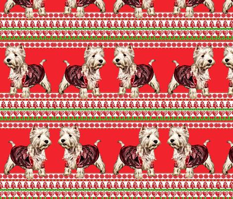 Westy Christmas fabric by dogdaze_ on Spoonflower - custom fabric