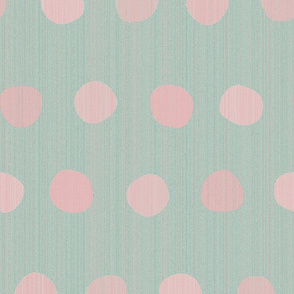 dots-rosebud pink n gray mint