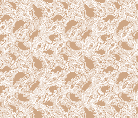 Paisley-Power-SMALL-white-and-tan-rat-print-ch fabric by paisleypower on Spoonflower - custom fabric