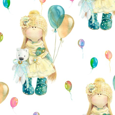 Rwatercolor-doll-and-balloons-on-white-by-floweryhat_shop_preview