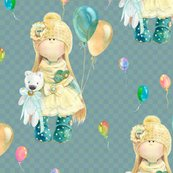Rwatercolor-doll-and-balloons-on-petroleum-blue-green-by-floweryhat_shop_thumb