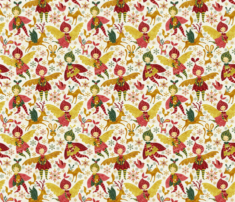 Christmas01 fabric by gaiamarfurt on Spoonflower - custom fabric