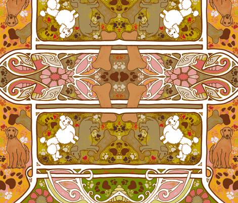 Doggie, Doggie, Where's Your Bone? fabric by edsel2084 on Spoonflower - custom fabric