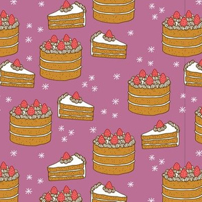 Cake on Mauve