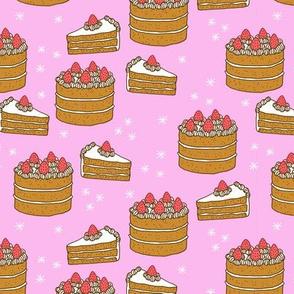 Cake on Pink