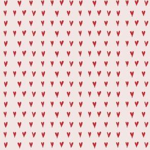 mini hearts - reds