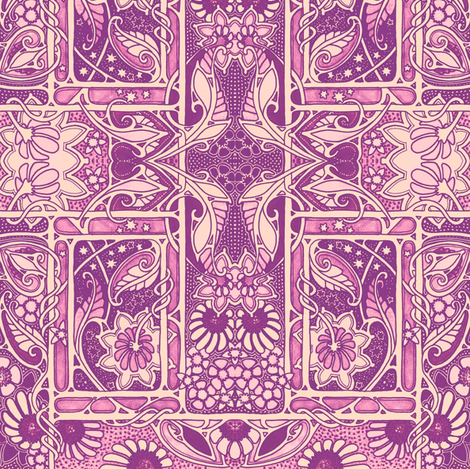 Do the Purple Nouveau Paisley Twist fabric by edsel2084 on Spoonflower - custom fabric
