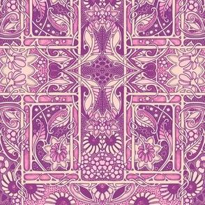 Do the Purple Nouveau Paisley Twist
