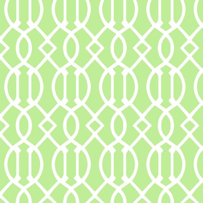Pale Green Trellis Large Scale