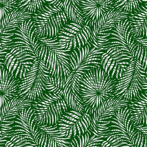 palm leaves __ greens   white __ tropical design for beach and swim