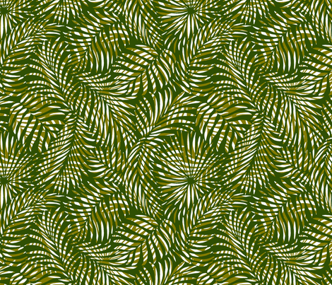 palm leaves __ olives   white __ tropical design for beach and swim fabric by paisleypower on Spoonflower - custom fabric