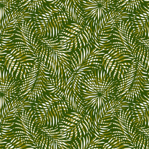 palm leaves __ olives   white __ tropical design for beach and swim