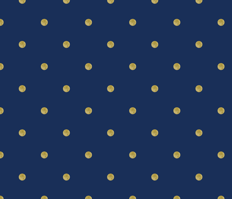Navy and Tan Dots fabric by white_tulip_designs on Spoonflower - custom fabric