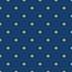 Navy and Tan Dots