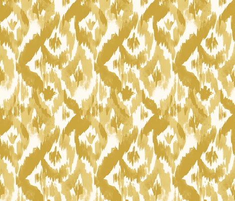 Ikat-Diamonds_mustard fabric by crystal_walen on Spoonflower - custom fabric