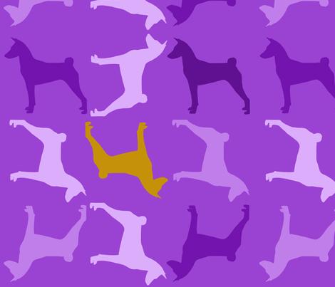 Basenji Violet fabric by mlf_designs on Spoonflower - custom fabric