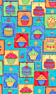 Cupcake Cake Patch Teal