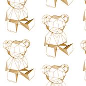 geometric teddybear