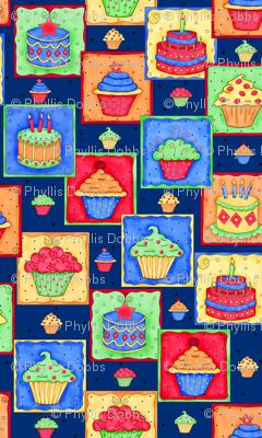 Cupcake Cake Patch Navy