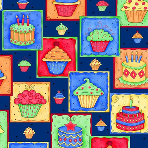 Cupcake Cake Patch Navy