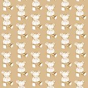 brown geometric teddybear