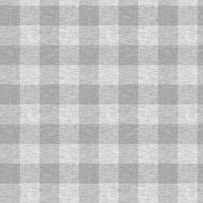 "1.75"" textured plaid- light grey Buffalo"