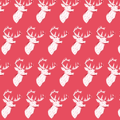 red geometric deer