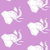 purple geometric elephant