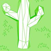green geometric cactus