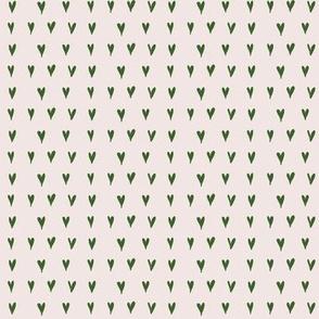 mini hearts - pink/green