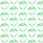 geometric green apple