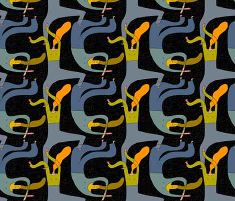 dark fabric by kimmurton on Spoonflower - custom fabric