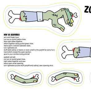 zombie arm pet toy