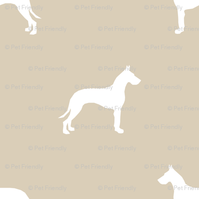 Great Dane silhouette (Smaller) dog fabric sand