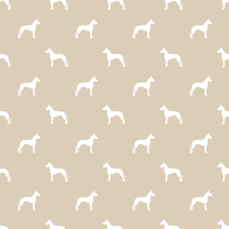 Great Dane silhouette (Smaller) dog fabric sand fabric by petfriendly on Spoonflower - custom fabric